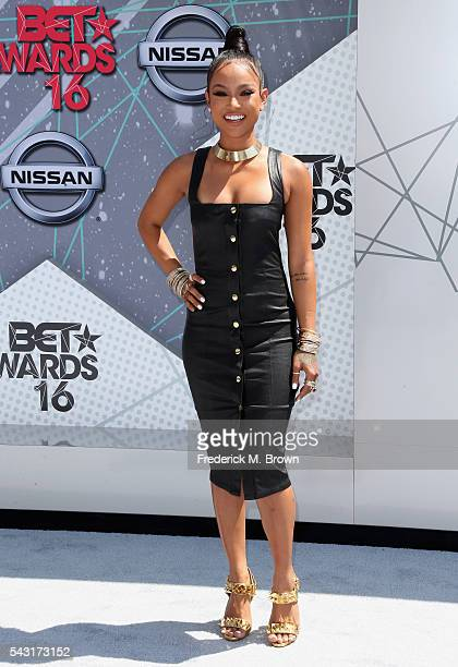Actress Karrueche Tran attends the 2016 BET Awards at the Microsoft Theater on June 26 2016 in Los Angeles California