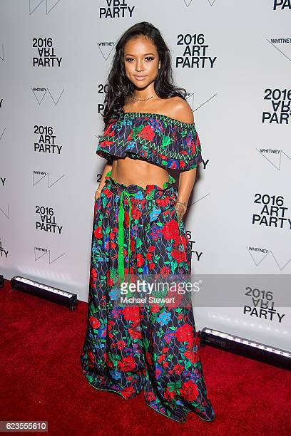Actress Karrueche Tran attends the 2016 Whitney Art Party at The Whitney Museum of American Art on November 15 2016 in New York City