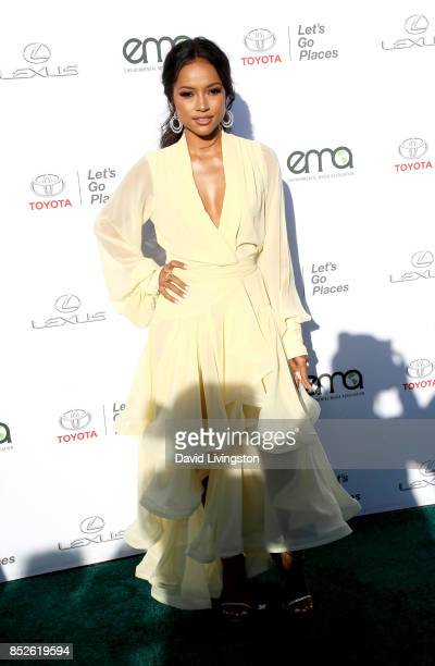 Actress Karrueche Tran attends the 27th Annual EMA Awards at Barker Hangar on September 23 2017 in Santa Monica California