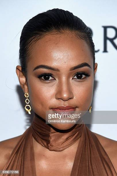 Actress Karrueche Tran attends the 7th Annual amfAR Inspiration Gala New York at Skylight at Moynihan Station on June 9, 2016 in New York City.