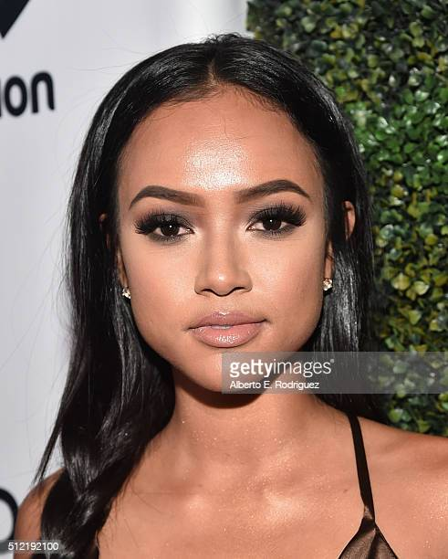 Actress Karrueche Tran attends the ALL Def Movie Awards at Lure Nightclub on February 24, 2016 in Hollywood, California.