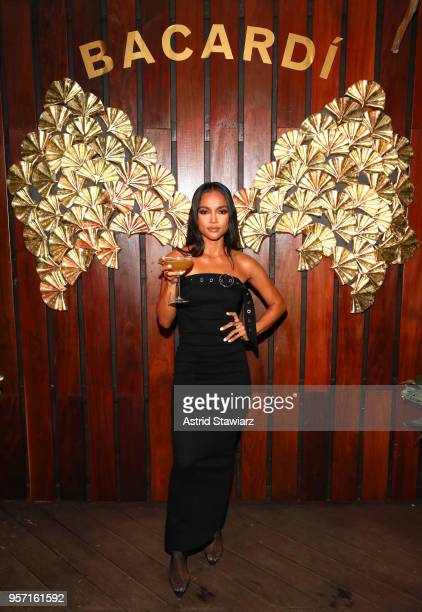 Actress Karrueche Tran attends the Bacardi Premium Launch at The DL on May 10 2018 in New York City