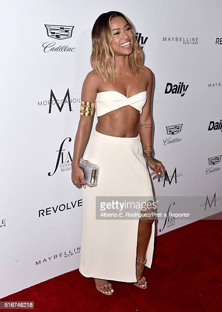 """Actress Karrueche Tran attends the Daily Front Row """"Fashion Los Angeles Awards"""" at Sunset Tower Hotel on March 20, 2016 in West Hollywood, California."""