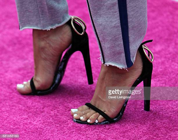 Actress Karrueche Tran shoe detail attends 1027 KIIS FM's 2016 Wango Tango at StubHub Center on May 14 2016 in Carson California