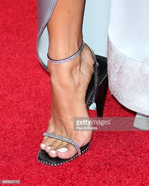 Actress Karrueche Tran Shoe Detail attends the 16th annual Unforgettable Gala at The Beverly Hilton Hotel on December 9 2017 in Beverly Hills...
