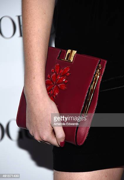 Actress Karsen Liotta clutch detail arrives at Teen Vogue's 13th Annual Young Hollywood Issue Launch Party on October 2 2015 in Los Angeles California
