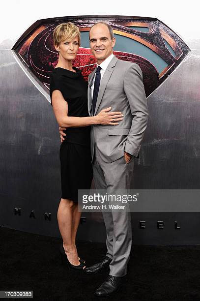 Actress Karyn Mendel and Actor Michael Kelly attend the Man Of Steel world premiere at Alice Tully Hall at Lincoln Center on June 10 2013 in New York...