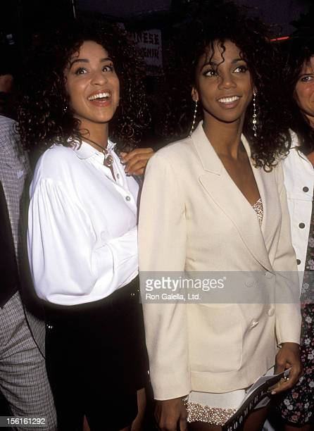 Actress Karyn Parsons and actress Holly Robinson attend the 'Boomerang' Hollywood Premiere on June 28 1992 at Mann's Chinese Theatre in Hollywood...