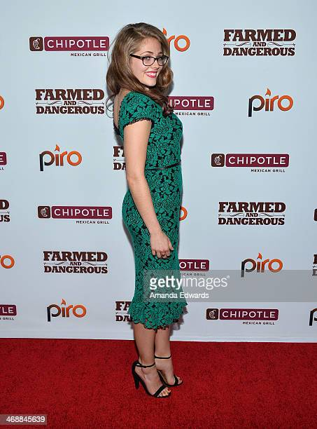 Actress Karynn Moore arrives at the Chipotle World Premiere of web series Farmed And Dangerous at the DGA Theater on February 11 2014 in Los Angeles...