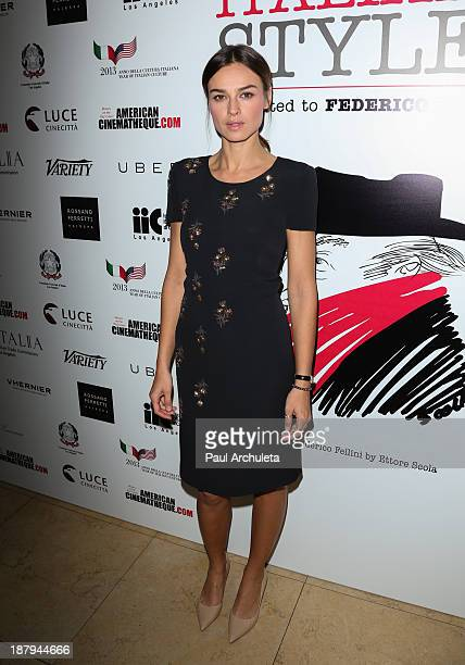 Actress Kasia Smutniak attends the Cinema Italian Style 2013 press reception at The Sunset Tower on November 13 2013 in West Hollywood California