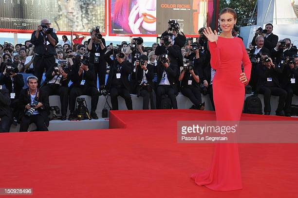 Actress Kasia Smutniak attends The Reluctant Fundamentalist Premiere And Opening Ceremony during the 69th Venice International Film Festival at...