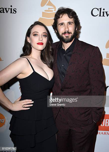 Actress Kat Dennings and musician Josh Groban attend the 2016 PreGRAMMY Gala and Salute to Industry Icons honoring Irving Azoff at The Beverly Hilton...
