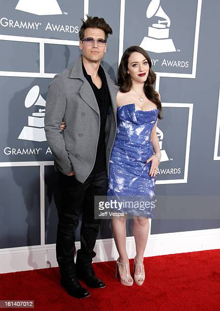 Actress Kat Dennings and Nick Zano attends the 55th Annual GRAMMY Awards at STAPLES Center on February 10 2013 in Los Angeles California