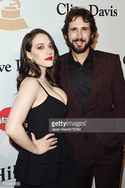 Actress Kat Dennings and recording artist Josh Groban attend the 2016 PreGRAMMY Gala and Salute to Industry Icons honoring Irving Azoff at The...