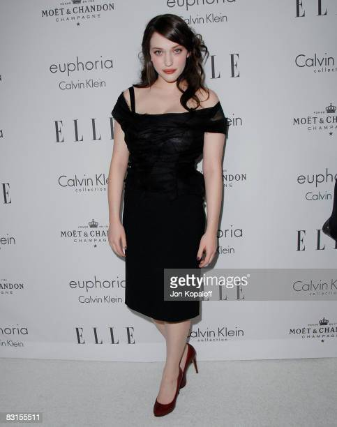 """Actress Kat Dennings arrives at """"Elle Magazine's 15th Annual Women in Hollywood Tribute"""" at the Four Seasons Hotel on October 6, 2008 in Beverly..."""