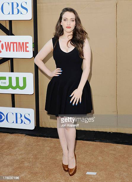 Actress Kat Dennings arrives at the 2013 Television Critic Association's Summer Press Tour CBS The CW Showtime Party at The Beverly Hilton Hotel on...
