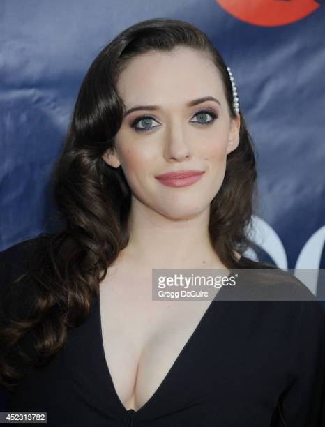 Actress Kat Dennings arrives at the 2014 Television Critics Association Summer Press Tour CBS CW And Showtime Party at Pacific Design Center on July...