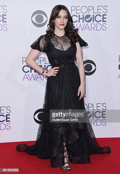 Actress Kat Dennings arrives at The 41st Annual People's Choice Awards at Nokia Theatre LA Live on January 7 2015 in Los Angeles California
