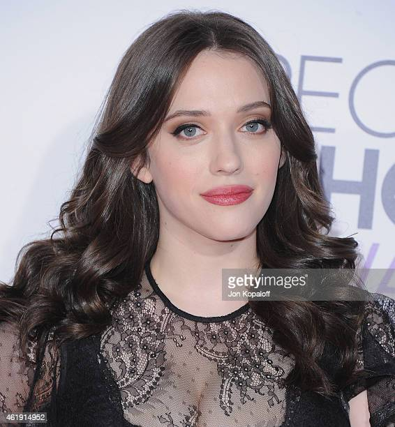Actress Kat Dennings arrives at The 41st Annual People's Choice Awards at Nokia Theatre L.A. Live on January 7, 2015 in Los Angeles, California.