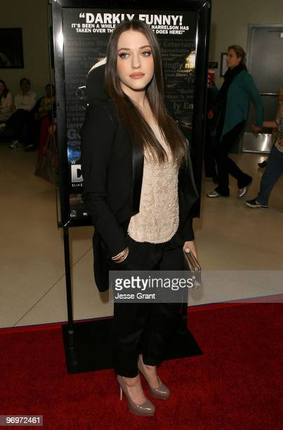Actress Kat Dennings arrives at the 'Defendor' Los Angeles premiere at the Landmark Theater on February 22 2010 in Los Angeles California
