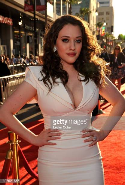 Actress Kat Dennings arrives at the Los Angeles premiere of Thor at the El Capitan Theatre on May 2 2011 in Hollywood California