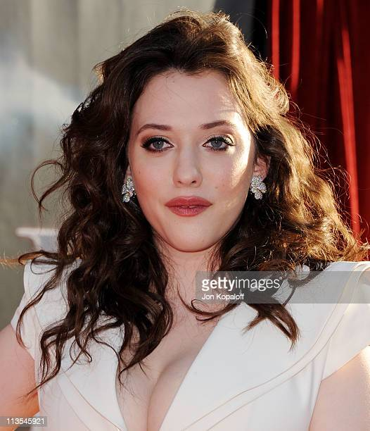 Actress Kat Dennings arrives at the Los Angeles Premiere Thor at the El Capitan Theatre on May 2 2011 in Hollywood California