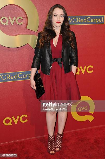 Actress Kat Dennings arrives at the QVC 5th Annual Red Carpet Style event at The Four Seasons Hotel on February 28 2014 in Beverly Hills California