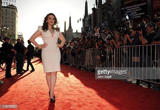 Actress Kat Dennings arrives to the THOR premiere featuring SHIELD edition Acura on May 2 2011 in Hollywood California