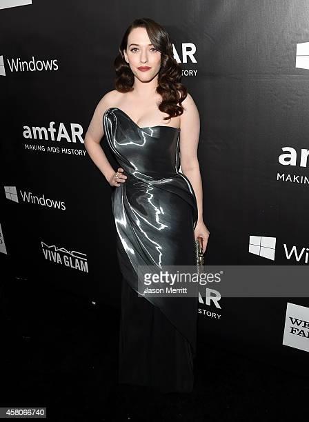 Actress Kat Dennings attends amfAR LA Inspiration Gala honoring Tom Ford at Milk Studios on October 29, 2014 in Hollywood, California.