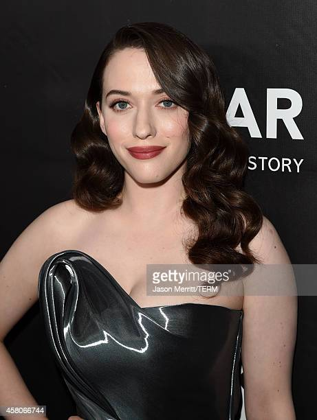 Actress Kat Dennings attends amfAR LA Inspiration Gala honoring Tom Ford at Milk Studios on October 29 2014 in Hollywood California