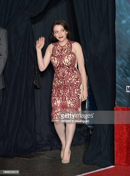 Actress Kat Dennings attends Marvel's 'Thor The Dark World' Premiere at the El Capitan Theatre on November 4 2013 in Hollywood California