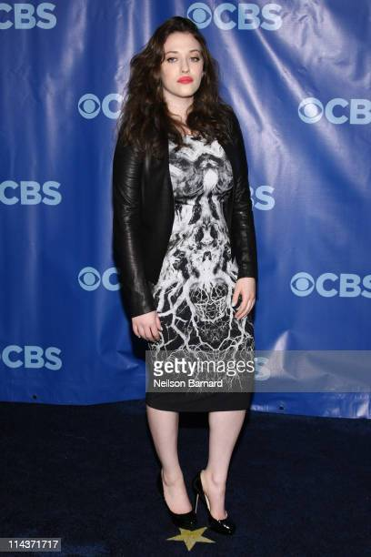 Actress Kat Dennings attends the 2011 CBS Upfront at The Tent at Lincoln Center on May 18 2011 in New York City