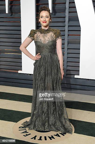 Actress Kat Dennings attends the 2015 Vanity Fair Oscar Party hosted by Graydon Carter at Wallis Annenberg Center for the Performing Arts on February...