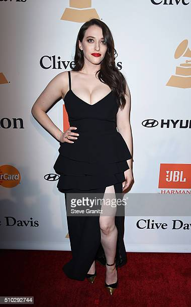 Actress Kat Dennings attends the 2016 PreGRAMMY Gala and Salute to Industry Icons honoring Irving Azoff at The Beverly Hilton Hotel on February 14...