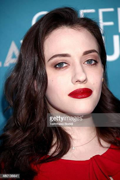 Actress Kat Dennings attends the Backstage At The Geffen annual fundraiser held at Geffen Playhouse on March 22 2014 in Los Angeles California