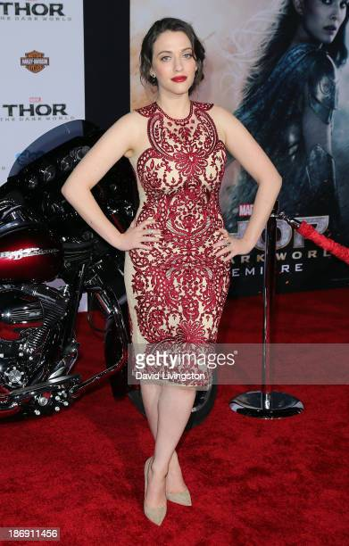 Actress Kat Dennings attends the premiere of Marvel's 'Thor The Dark World' at the El Capitan Theatre on November 4 2013 in Hollywood California