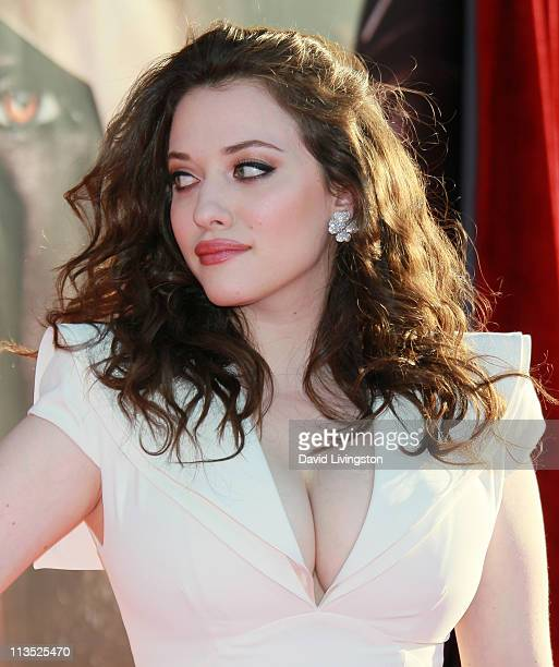 Actress Kat Dennings attends the premiere of Paramount Pictures' And Marvel's Thor at the El Capitan Theatre on May 2 2011 in Los Angeles California
