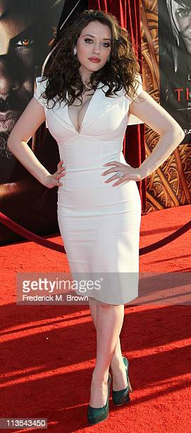 Actress Kat Dennings attends the Premiere of Paramount Pictures' and Marvel's Thor at the El Capitan Theater on May 2 2011 in Los Angeles California