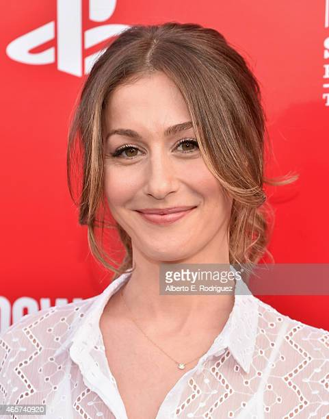 Actress Kat Foster attends the series premiere of Sony Television's Powers at Sony Pictures Studios on March 9 2015 in Culver City California