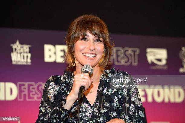 Actress Kat Foster speaks onstage during the Beyond Fest screening and Cast/Creator panel of Amazon Prime Video's exclusive series JeanClaude Van...