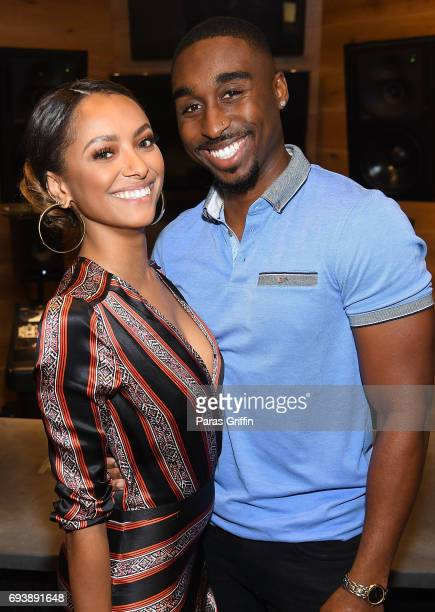Actress Kat Graham and actor Demetrius Shipp Jr attend 'All Eyez On Me' QA at Means Street Studios on June 8 2017 in Atlanta Georgia