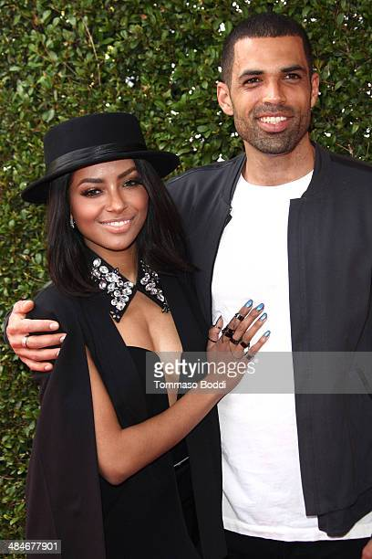 Actress Kat Graham and Cottrell Guidry attend the 11th annual John Varvatos Stuart House Benefit held at the John Varvatos on April 13 2014 in Los...