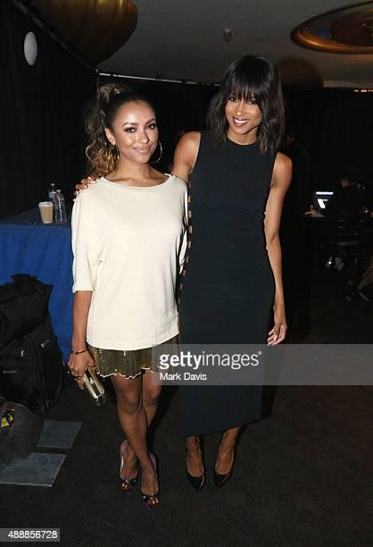Actress Kat Graham and recording artists Ciara backstage at VH1's 5th Annual Streamy Awards at the Hollywood Palladium on Thursday September 17 2015...