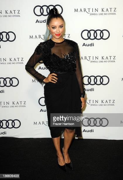 Actress Kat Graham arrives at Audi Celebrates The 2012 Golden Globe Awards at Ceconni's on January 8 2012 in West Hollywood California