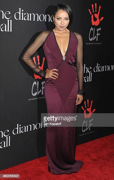 Actress Kat Graham arrives at Rihanna's First Annual Diamond Ball at The Vineyard on December 11 2014 in Beverly Hills California