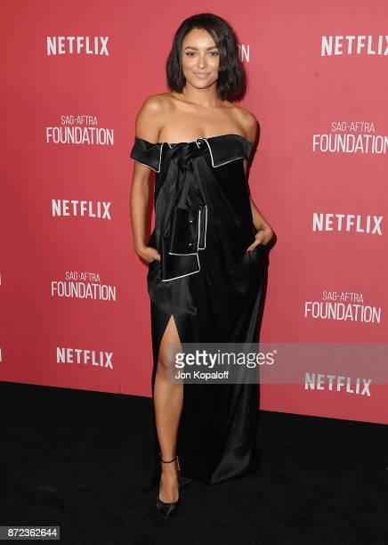 Actress Kat Graham arrives at SAGAFTRA Foundation Patron of the Artists Awards 2017 on November 9 2017 in Beverly Hills California