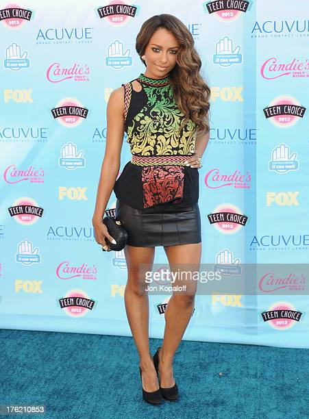 Actress Kat Graham arrives at the 2013 Teen Choice Awards at Gibson Amphitheatre on August 11 2013 in Universal City California