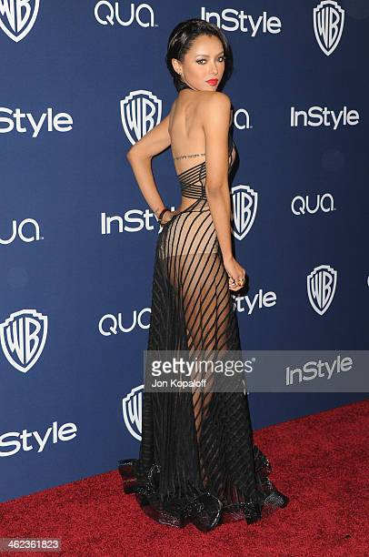 Actress Kat Graham arrives at the 2014 InStyle And Warner Bros 71st Annual Golden Globe Awards PostParty on January 12 2014 in Beverly Hills...