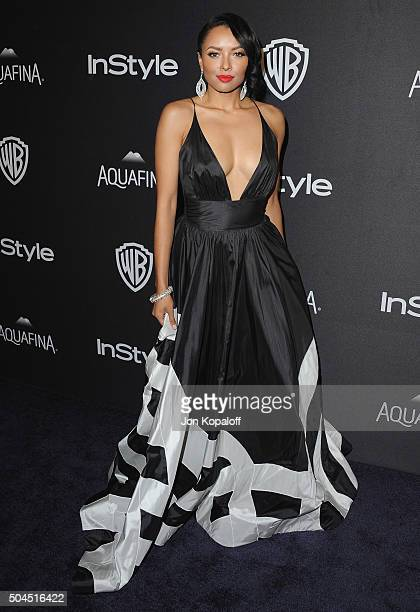 Actress Kat Graham arrives at the 2016 InStyle And Warner Bros 73rd Annual Golden Globe Awards PostParty at The Beverly Hilton Hotel on January 10...