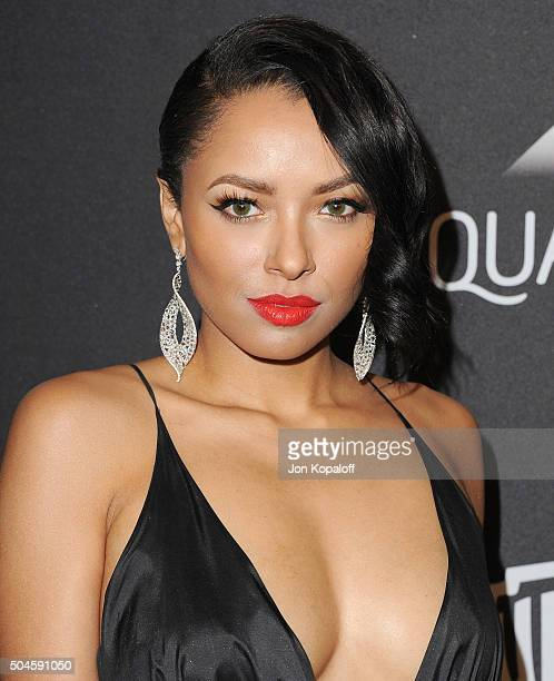 Actress Kat Graham arrives at the 2016 InStyle And Warner Bros. 73rd Annual Golden Globe Awards Post-Party at The Beverly Hilton Hotel on January 10,...